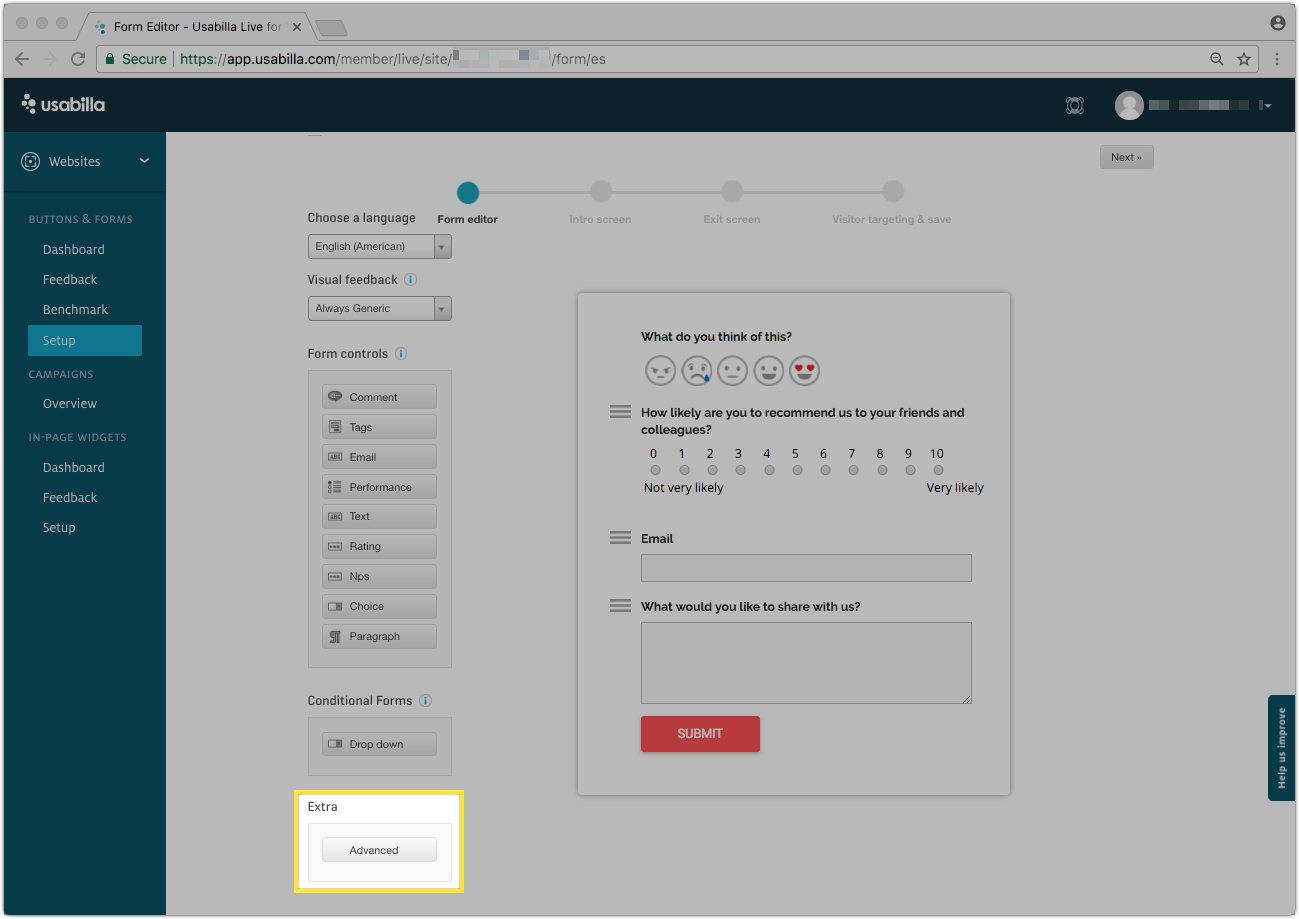 Custom Forms and Auto-Labeling – Usabilla Support