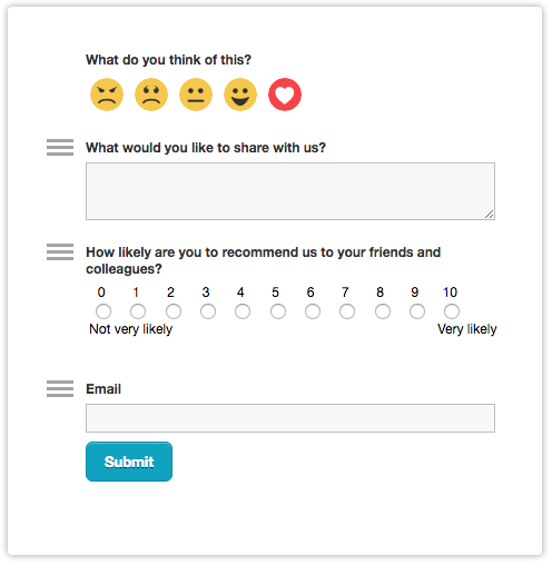 Creating your first feedback form – Usabilla Support